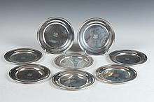 EIGHT S. KIRK & SON STERLING SILVER BREAD AND BUTTER PLATES. - D: 6 in. Weight: 25 oz. 4 d.w.t.