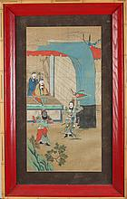 ANONYMOUS (Chinese, 19th/20th Century). UNTITLED, Ten ink and color on silk, framed.