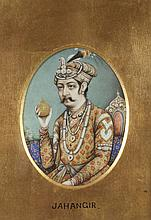 ANONYMOUS (Indian, 18th/19th Century). MAHRADJA, Ink and color on paper, framed.