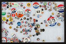 COLLECTION VARIOUS PRESIDENTIAL AND RELATED PINS,