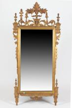 NEOCLASSICALLY INFLUENCED GILT-WOOD WALL MIRROR, Late 20th century. - 65