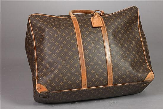 LOUIS VUITTON MONOGRAM CANVAS SOFT-SIDED SUITCASE. - 16 1/2 in. x 24 in. x 8 in.