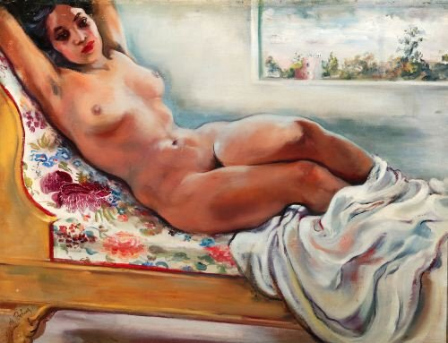 IRENE DE BOHUS (American, 20th Century). RECLININ