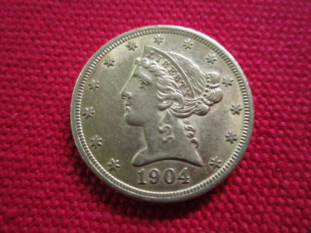 1904 Five Dollar Liberty Gold Piece