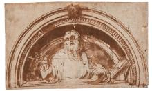 ATTRIBUTED TO GIROLAMO MAZZOLA BEDOLI | A lunette with a prophet