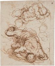 JACOPO NEGRETTI, CALLED PALMA IL GIOVANE | Studies of a falling man