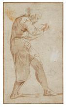 GIOVANNI BATTISTA FRANCO, CALLED IL SEMOLEI | A boy, writing or sketching