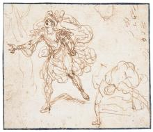 FLORENTINE SCHOOL, EARLY 17TH CENTURY | A study of a running man, possibly Hippomenes