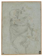 DOMENICO ZAMPIERI, CALLED DOMENICHINO | A study?of a man in motion, his arms outstretched