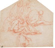 GIULIO CARPIONI | Captives and seamen, and a portrait of a man in profile