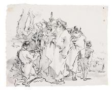 GIOVANNI DOMENICO TIEPOLO | A servant before a group of Orientals