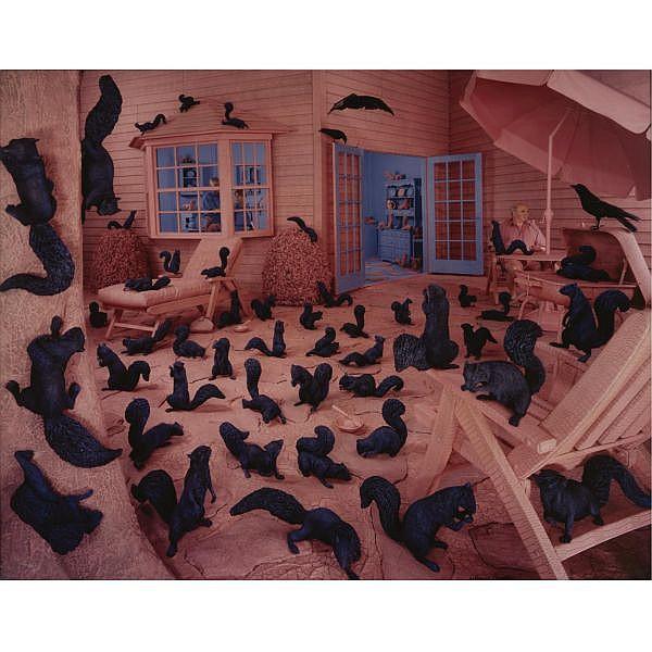 Sandy Skoglund b.1946 , 'gathering paradise'