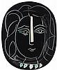 PABLO PICASSO   Visage de femme (A.R. 220)