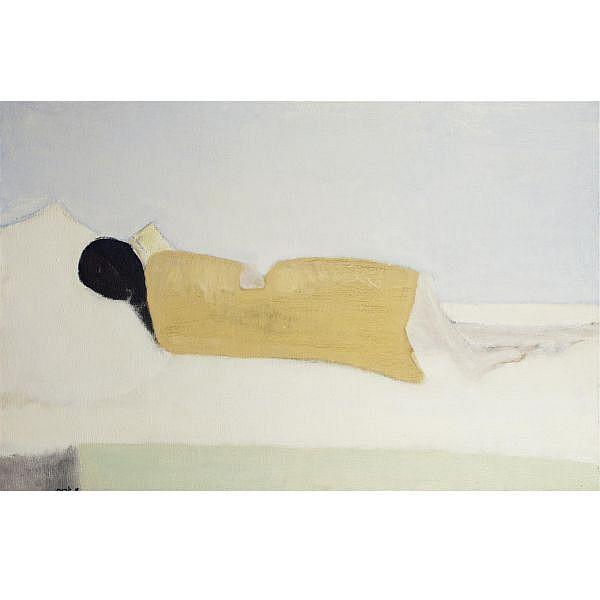 Michael Gross 1920-2004 , Reclining Woman oil on canvas