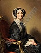 Franz-Xaver Winterhalter , Menzenschroand 1805 - 1873 Francfort Portrait de Madame François-Marie Delessert Franz Xavier Winterhalter ; Portrait of Mrs François Delessert ; signed, dated and situated lower right F. Winterhalter Paris 1851 ; oil on
