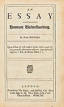 LOCKE. AN ESSAY CONCERNING HUMANE UNDERSTANDING LONDON, 1690 (1 VOL.)