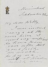 EDWARD VII. AUTOGRAPH LETTER SIGNED AS KING, TO CROWN PRINCE WILHELM, 1905