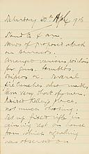 IRELAND. DIARY OF LT. HENRY DOUGLAS DURING THE EASTER RISING, 1916