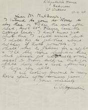 WITTGENSTEIN. AUTOGRAPH LETTER SIGNED, TO THOMAS MULKERRIN, 1948