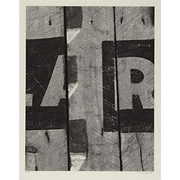 Aaron Siskind 1903-1991 , 'harlan, kentucky 4' (letter composition)