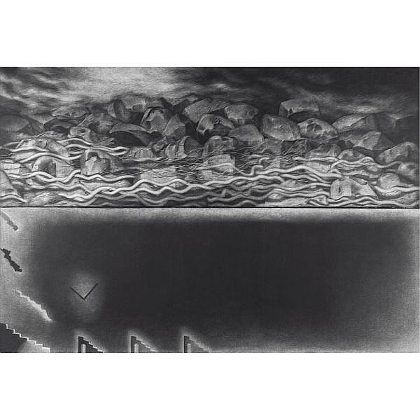 Rameshwar Broota (b. 1941) , The Other Space Diptych, Oil on canvas