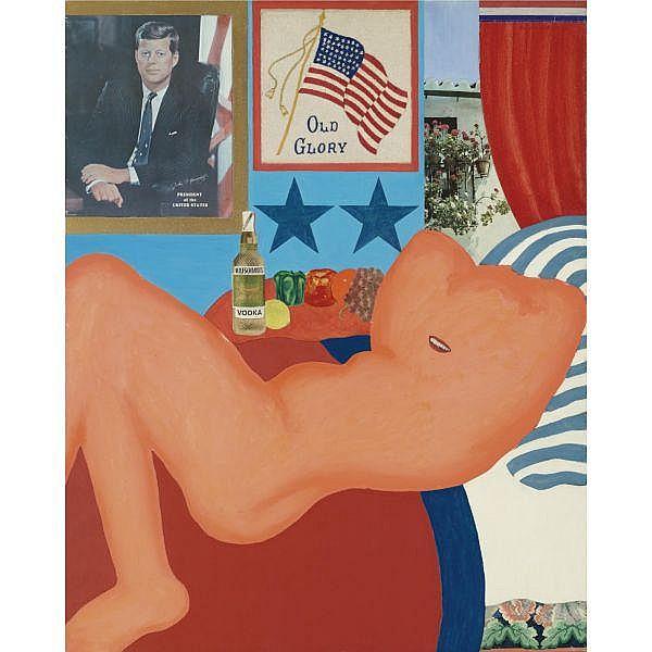 Tom Wesselmann , Great American Nude #21 Board, Oil