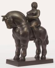 FERNANDO BOTERO<BR>(B. 1932)   Woman on a Horse