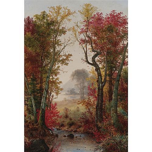 Louis Remy Mignot 1831-1870 , Autumn Landscape