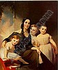 *THOMAS SULLY (1783-1872) PORTRAIT OF MRS. JAMES ROBB AND HER THREE CHILDREN, Thomas Sully, Click for value