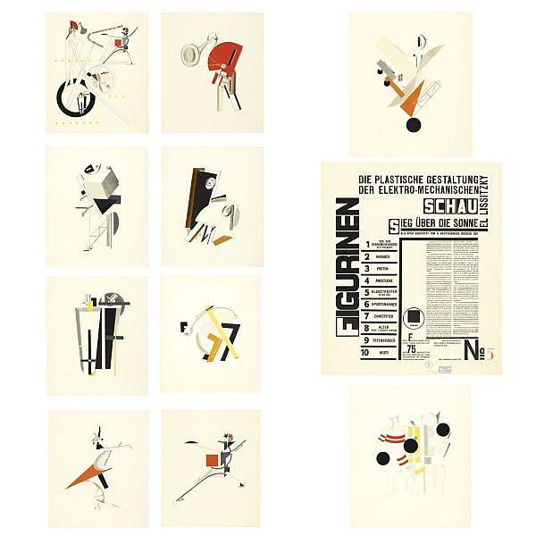 El Lissitzky, 1890-1941 , Die plastische Gestaltung der Elektro-Mechanischen Schau 'Sieg über die Sonne' , Hannover, Rob.Leunis and Chapman GmbH, 1923