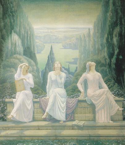 JEAN DELVILLE (BELGIAN 1867-1953) LECOLE DU SILENCE