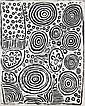- NYURAPAIYA NAMPITJINPA , BORN CIRCA 1935   ROCKHOLE SITE OF YUMARRA Synthetic polymer paint on linen     , Nyurapayia Nampitjinpa, Click for value