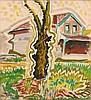 CHARLES EPHRAIM BURCHFIELD | Tree and House, Charles Ephraim Burchfield, $16,000