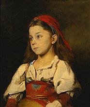 WILLIAM MERRITT CHASE | Normannisches Madchen (Girl in the National Dress of Normandy)