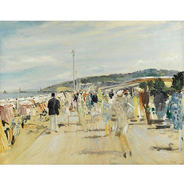 Lucien Adrion , 1889-1953 DEAUVILLE, LES PLANCHES Oil on canvas