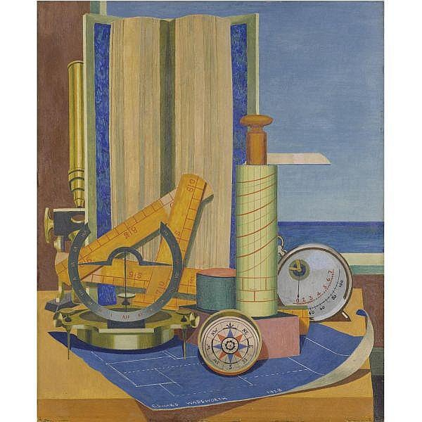 Edward Wadsworth, A.R.A. , 1889-1949 parergon tempera on panel
