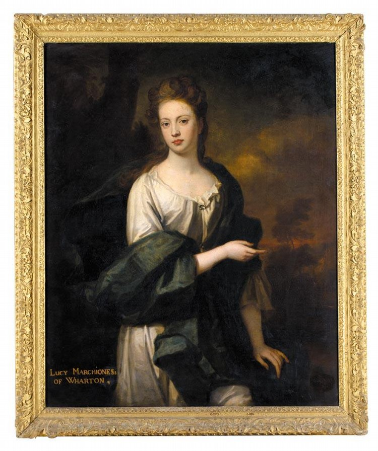 SIR GODFREY KNELLER, BT. 1646 - 1723 PORTRAIT OF THE HON. LUCY LOFTUS, MARCHIONESS OF WHARTON