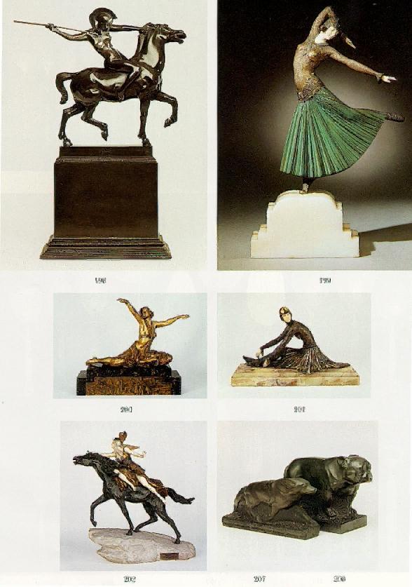 FRANZ VON STUCK L'AMAZONE, 1897 Bronze, socle en bois Marque