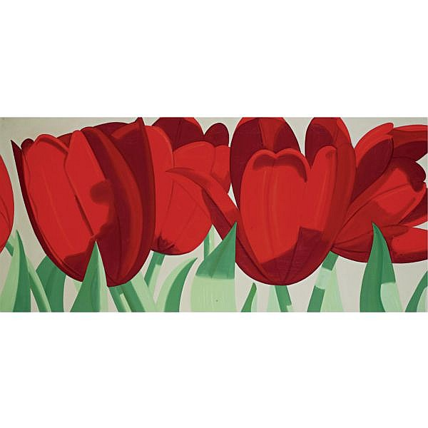 Alex Katz , b. 1927 Red Tulips oil on canvas