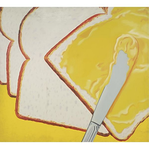 James Rosenquist , b. 1933 White Bread oil on canvas