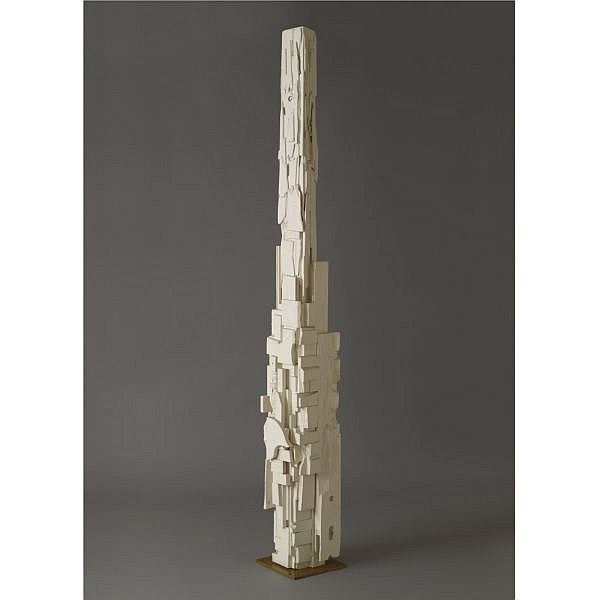 Louise Nevelson , 1899-1988 Dawn's Wedding Feast, Column VI wood, painted white