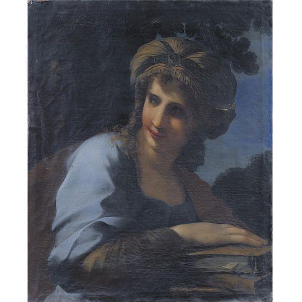 Giovanni Francesco Romanelli, called il Viterbese , Viterbo circa 1610 - 1662 A sybil oil on canvas, unlined