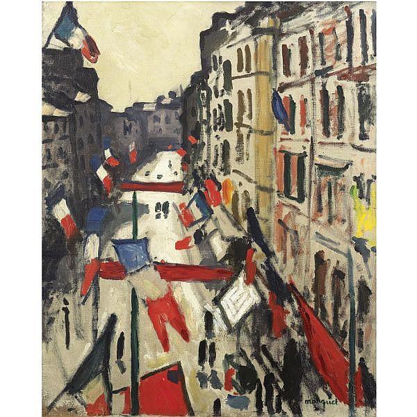 Albert Marquet , 1875-1947 LE 14 JUILLET AU HAVRE oil on canvas
