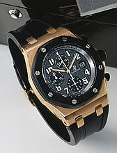 AUDEMARS PIGUET | A FINE PINK GOLD AND CERAMICAUTOMATIC CHRONOGRAPH WRISTWATCH WITH DATE <br />REF 25940CASE F63962 NO 1707ROYAL OAK OFFSHORE CIRCA 2006