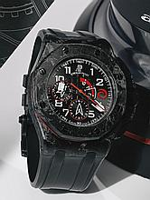 AUDEMARS PIGUET | A FORGED CARBON AUTOMATIC CHRONOGRAPH WRISTWATCH WITH REGATTA COUNTDOWN  <br />REF 26062FS MVT 668915 CASE G04272-0876ROYAL OAK OFFSHORE ALINGHI TEAM MADE IN 2007