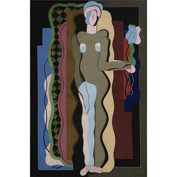 Georges Valmier , 1885-1937 Nu à la fleur Oil on canvas