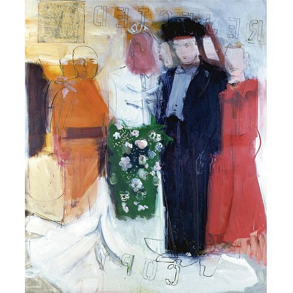 Larry Rivers , 1923-2002 Marriage Photograph II oil and collage on canvas