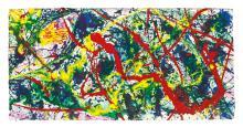 SAM FRANCIS   Untitled (Osamu Hand Print)