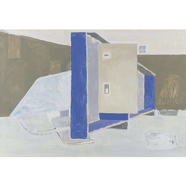 Neal Tait , Changing Room 1975 acrylic on canvas, unframed