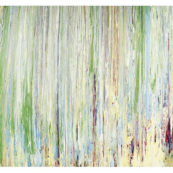 Larry Poons , Parrot Island acrylic on canvas, unframed